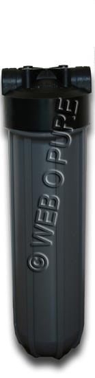"""Porte filtre """"Big Grey"""" 20 pouces E/S 1 pouce"""