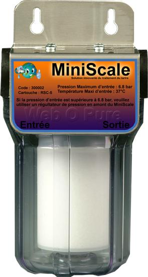 MiniScale anti tartre efficace même en eau chaude