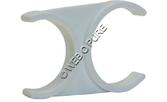 Clip double pour porte membrane résidentiel
