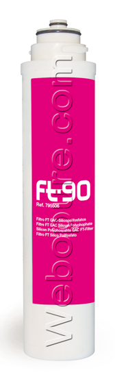 Cartouche FT90 Carbon actif et silicophosphates.