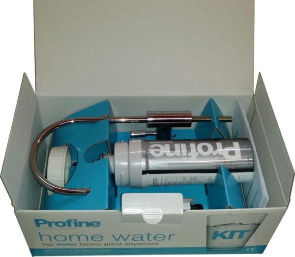 présentation interne du kit Profine, filtre eau robinet