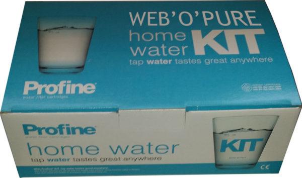 carton de présentation du kit filtre eau robinet Profine