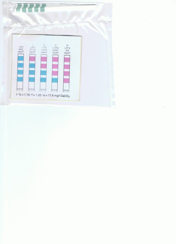 Test Kit 4 bandelettes de mesure de dureté °F TH