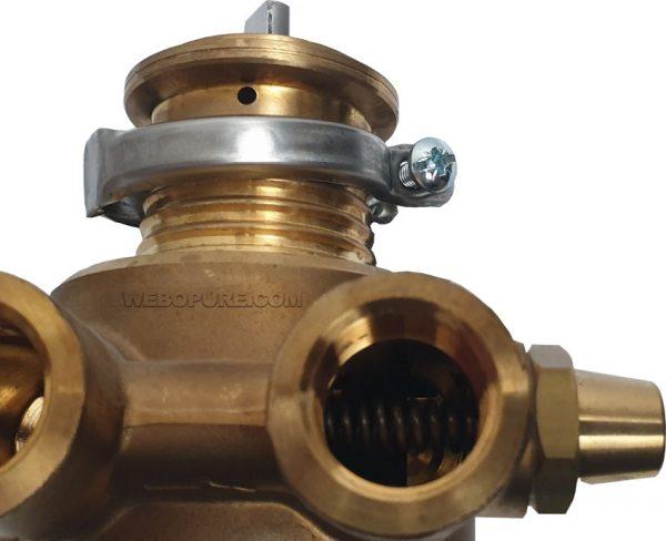 détail by pas et ressort pompe pression à palette 600 l/h