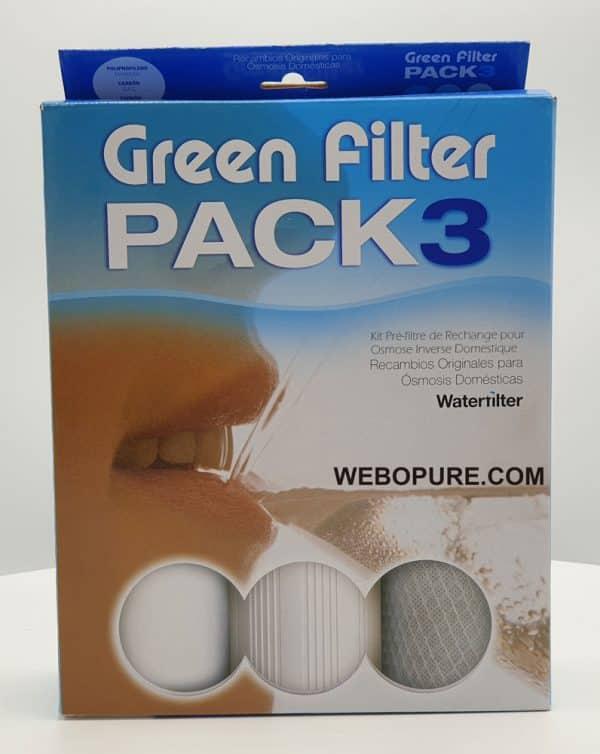 Pack 3 cartouches pour osmose inverse domestique